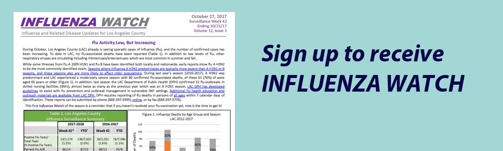 Sign up for Influenza Watch